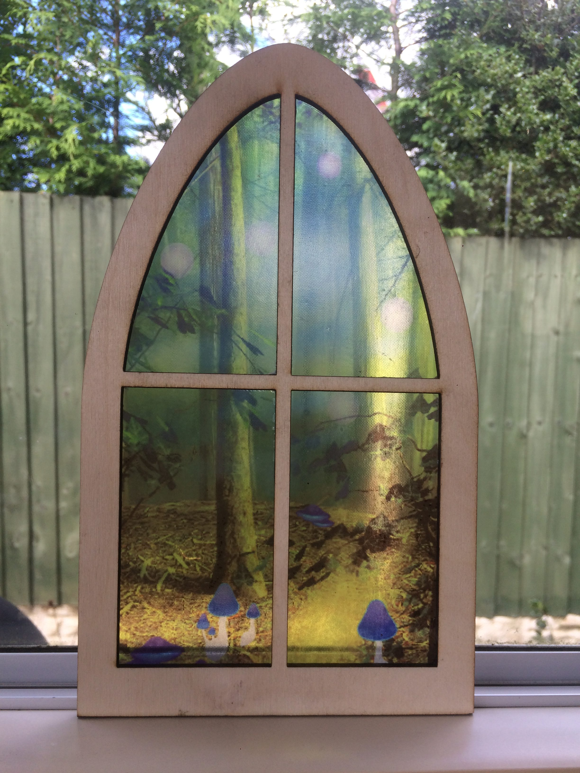 Extra Large Enchanted Stained Glass Fairy Window - A Portal into a Magical  Fairy Land by Secret Fairy Door
